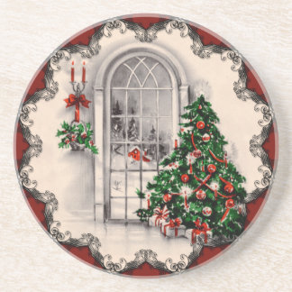 Vintage Christmas Window Coasters
