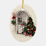 Vintage Christmas Window Lights Ornament