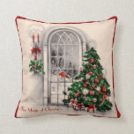 Vintage Christmas Window Pillow