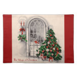 Vintage Christmas Window Placemat