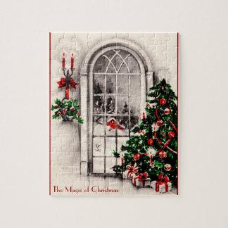 Vintage Christmas Window Puzzle