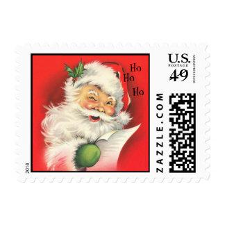 Vintage Christmas Winking Santa Claus - Postage