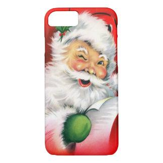Vintage Christmas Winking Santa iPhone 7 Case