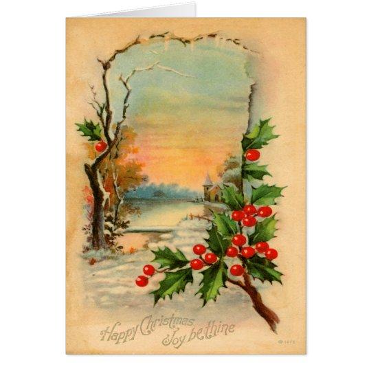 Vintage Christmas Winter Card