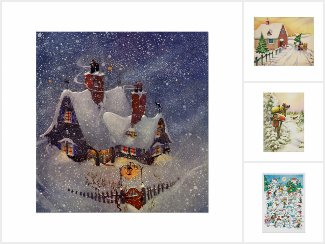Vintage   Christmas Winter Scenes
