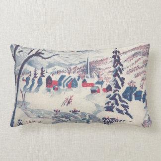 Vintage Christmas, Winter Village Snowscape Pillow