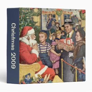 Vintage Christmas Wish, Boy on Santa's Lap 3 Ring Binder