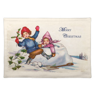 Vintage Christmas Wish Placemat