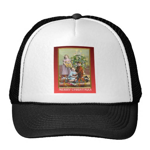 Vintage Christmas wishes Trucker Hats