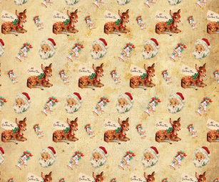 vintage christmas wrapping paper - Vintage Christmas Wrapping Paper