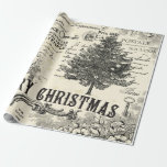 """Vintage Christmas Wrapping Paper - French Vintage<br><div class=""""desc"""">French Vintage Christmas Wrapping Paper If you share our love of all things French Vintage,  then you will love our line of quality papers. They deliver just the right combination of beautiful vintage images and French words to make your holiday decoupage crafting and gifts memorable.  Prendre plaisir (enjoy!)</div>"""