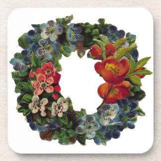 Vintage Christmas Wreath Coaster
