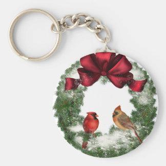Vintage Christmas Wreath Keychain