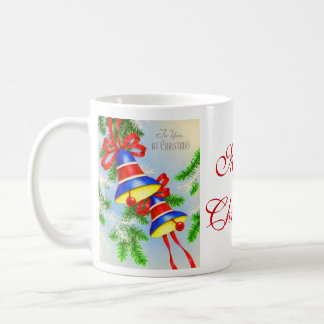 Vintage Christmas Xmas Bells Coffee Mug