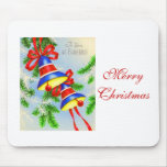 Vintage Christmas Xmas Bells Mouse Pads