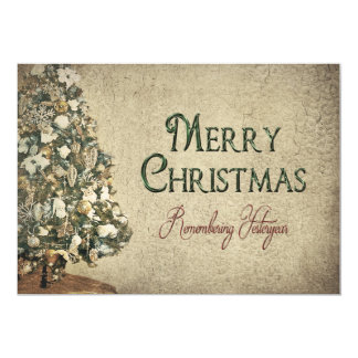 Vintage Christmas - Yesteryear - Texture Card