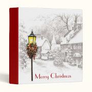 Vintage ChristmasTown binder