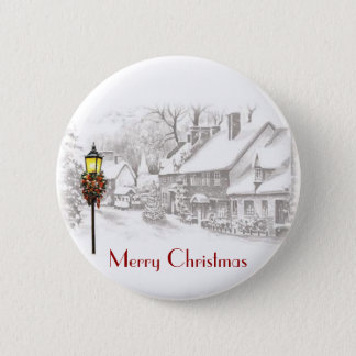 Vintage ChristmasTown Button