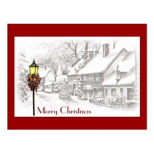 Vintage ChristmasTown Postcard