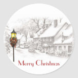 Vintage ChristmasTown Stickers