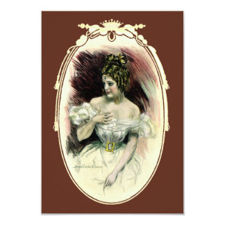 Vintage Christy Girl, Antique Bridal Portrait Card