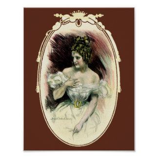 Vintage Christy Girl, Antique Bridal Portrait Poster