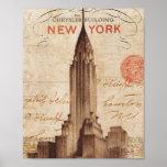Vintage Chrysler que construye en Nueva York Impresiones