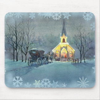 VINTAGE CHURCH by SHARON SHARPE Mouse Pad