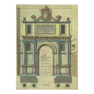 Vintage Church Door Entry Renaissance Architecture Poster