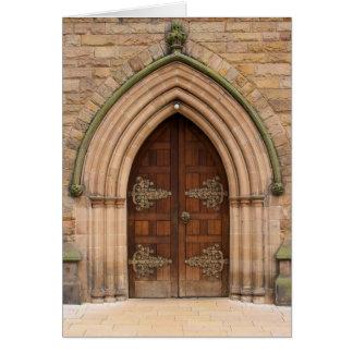 Vintage Church Doors - United Kingdom - Card