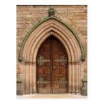 Vintage Church Doors - United Kingdom - Postcard