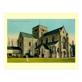 Vintage Church of St. Cross, Winchester Postcard