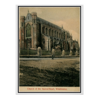 Vintage Church of the Sacred Heart Wimbledon Posters