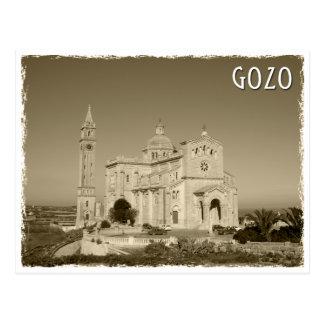 Vintage church RK Gozo, Malta Postcard