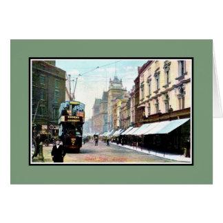 Vintage Church Street Liverpool Card