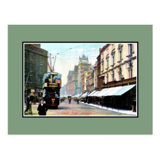 Vintage Church Street Liverpool Postcard