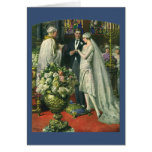 Vintage Church Wedding Ceremony; Bride and Groom Greeting Cards