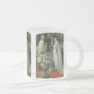 Vintage Church Wedding Ceremony; Bride and Groom Coffee Mugs