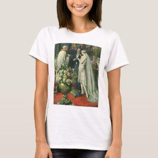 Vintage Church Wedding Ceremony; Bride and Groom T-Shirt
