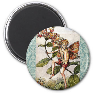 Vintage Cicely Mary Barker Flower Fairy 2 Inch Round Magnet