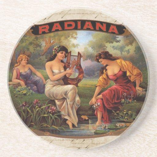 Vintage Cigar Ad Radiana Art Label Drink Coaster