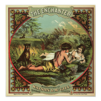 Vintage Cigar Ad: The Enchanter Poster