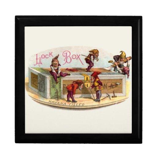 Vintage Cigar Box Gnomes Gift Boxes