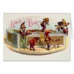 Vintage Cigar Box Gnomes Greeting Card