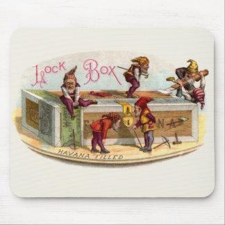 Vintage Cigar Box Gnomes Mouse Pad