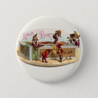 Vintage Cigar Box Gnomes Pinback Button