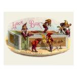 Vintage Cigar Box Gnomes Postcard