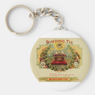 Vintage Cigar Box Label  BINDING TIE   (15) Keychain