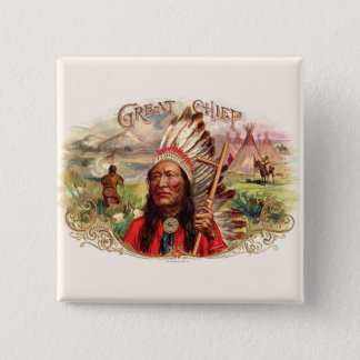 Vintage Cigar Box Label Button