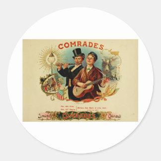 Vintage Cigar Box Label   Comrades   (L10) Sticker